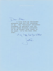Jacqueline Kennedy Typed Letter Signed