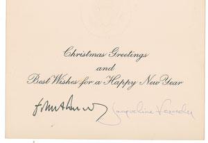 Jacqueline Kennedy Signed Christmas Card