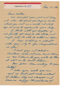 Lee Harvey Oswald Autograph Letter Signed