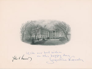 Jacqueline Kennedy Signed White House Engraving