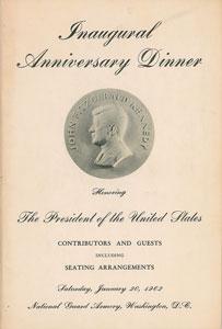 John F. Kennedy Inauguration Program and Ticket