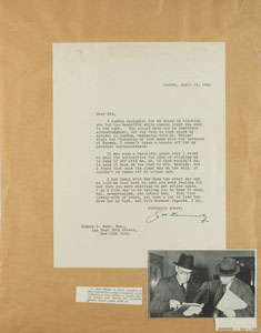 Joseph P. Kennedy Typed Letter Signed