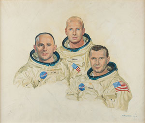 Apollo 12 painting by Raymond Bruneau