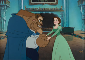 Beauty and the Beast limited edition hand-painted cel