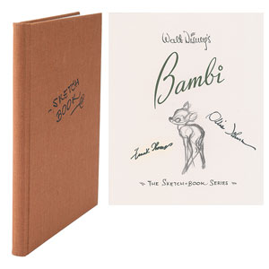 Frank Thomas and Ollie Johnston Signed Bambi Book