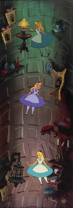 Alice in Wonderland limited edition hand-painted cel