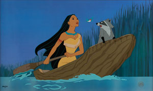 Pocahontas limited edition hand-painted cel
