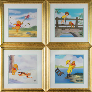 Winnie the Pooh 'The Many Seasons' sericel suite