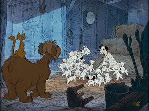 101 Dalmatians limited edition hand-painted cel