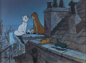 The Aristocats limited edition hand-painted cel