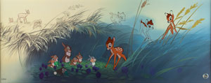 Bambi limited edition hand-painted cel