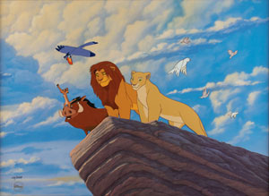 The Lion King limited edition hand-painted cel