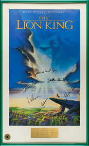 The Lion King Signed Movie Poster