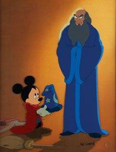 Fantasia limited edition hand-painted cel