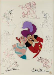 Peter Pan limited edition hand-painted cel signed by Frank Thomas and Ollie Johnson