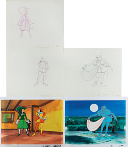 Cyrano de Bergerac production cels and drawings from Cyrano