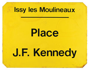 John F. Kennedy French Sign
