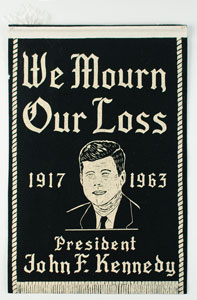 John F. Kennedy Mourning Banner