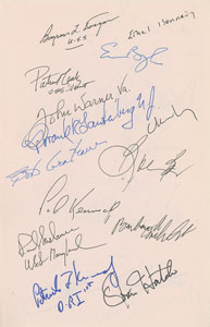 John F. Kennedy Jr. Multi-Signed Congressional Tributes Book