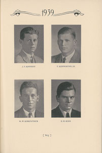 John F. Kennedy 1939 Princeton Nassau Herald Yearbook