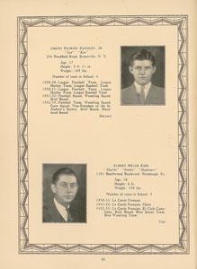 John F. Kennedy and Joe Kennedy, Jr. 1933 Choate School Yearbook