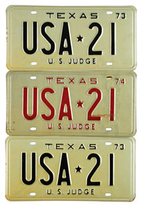 Kennedy Assassination: Sarah T. Hughes' License Plates