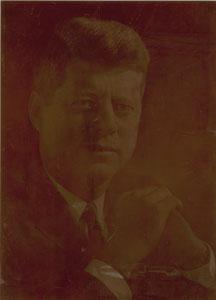 John F. Kennedy Photoengraver's Plate
