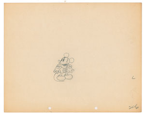 Mickey Mouse production drawing from The Karnival Kid