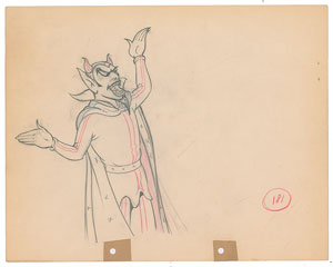 Hades production drawing from The Goddess of Spring