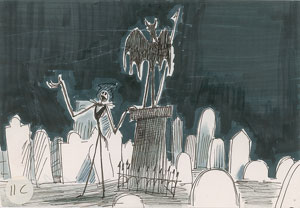 Jack Skellington concept drawing from The Nightmare Before Christmas