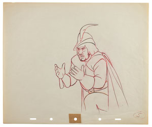 The Huntsman production drawing from Snow White and the Seven Dwarfs