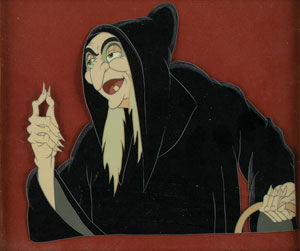 Wicked Witch production cel from Snow White and the Seven Dwarfs