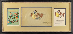 Snow White and forest animals production cel from Snow White and the Seven Dwarfs