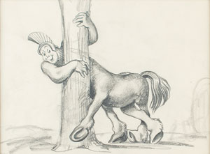 Centaur concept storyboard drawing from Fantasia