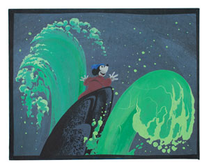 Mickey Mouse concept storyboard painting from Fantasia