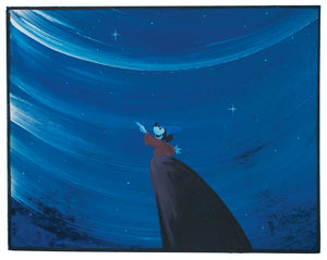 Mickey Mouse concept painting from Fantasia
