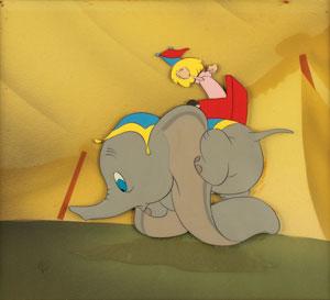 Dumbo production cel from Dumbo