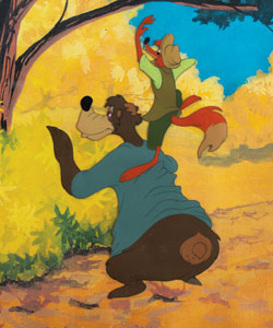 Br'er Fox and Br'er Bear production cel from Song of the South