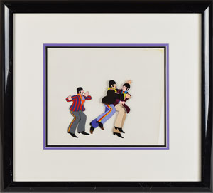 John, Paul, and Ringo production cels from Yellow Submarine