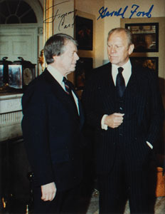 Jimmy Carter and Gerald Ford