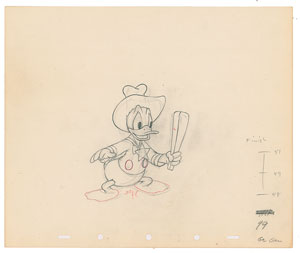 Donald Duck production drawing from Truant Officer Donald