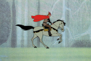Prince Phillip and Samson production cel from Sleeping Beauty