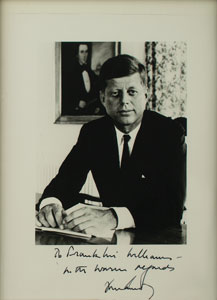 John F. Kennedy Signed Photograph