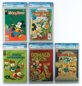 Walt Disney Group of (5) Comic Books Graded by CGC