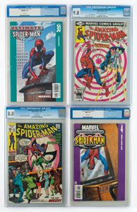 Spider-Man Group of (4) Comic Books Graded by CGC