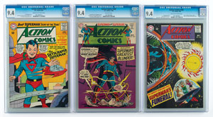Action Comics Group of (3) Comic Books Graded by CGC