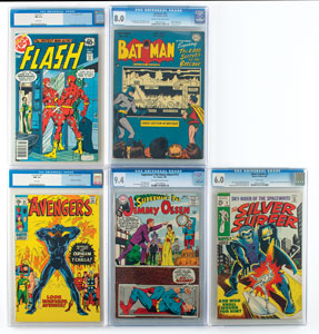 Marvel and DC Group of (5) Comic Books Graded by CGC