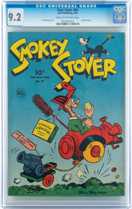 Four Color #64 Smokey Stover (Dell, 1945) CGC NM- 9.2