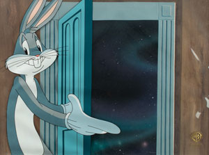 Bugs Bunny production cel from Invasion of the Bunny Snatchers