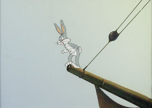 Bugs Bunny production cel from Buccaneer Bunny